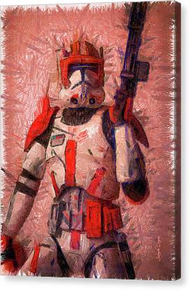 Outer Space Canvas Print - Clone Commander Cody - Pencil Style by Leonardo Digenio