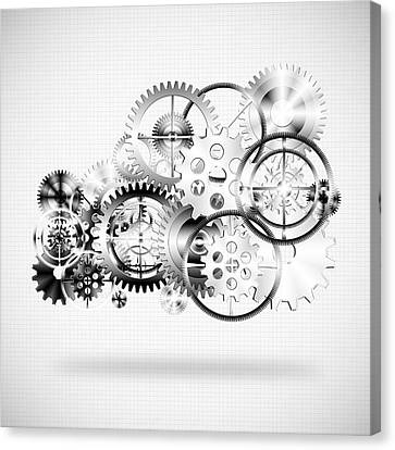 Cloud Made By Gears Wheels  Canvas Print by Setsiri Silapasuwanchai