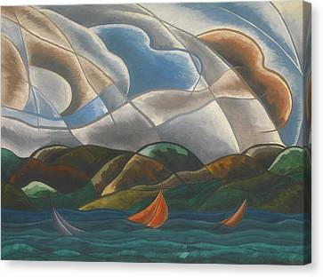 Clouds And Water Canvas Print by Arthur Dove