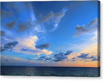 Clouds Drifting Over The Ocean Canvas Print by Theresa Campbell
