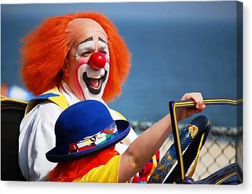Clown Parade On The Boardwalk, Seaside Heights Nj- Canvas Print by Bob Cuthbert