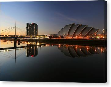Clydeside Reflections  Canvas Print by Grant Glendinning