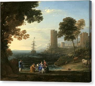 Coast View With The Abduction Of Europa Canvas Print