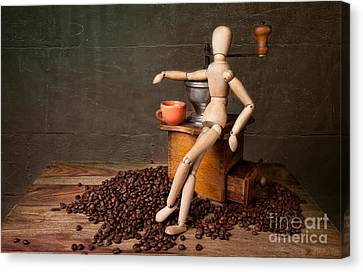 Coffee Break Canvas Print by Nailia Schwarz