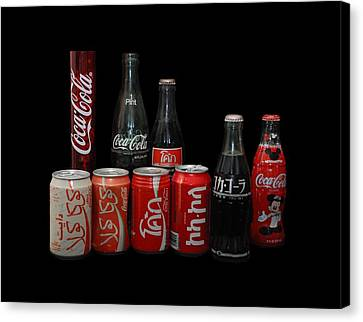 Coke From Around The World Canvas Print by Rob Hans