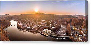 Colinsville, Connecticut Sunrise Panorama Canvas Print by Petr Hejl