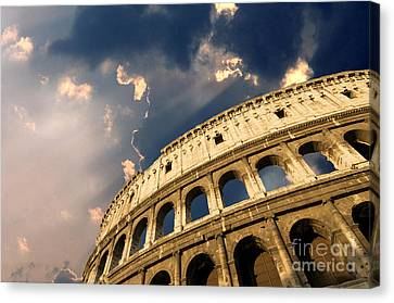 Coliseum. Rome. Lazio. Italy. Europe Canvas Print