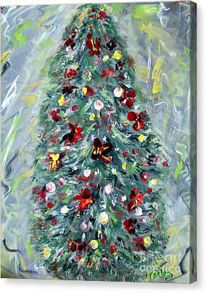 Christmas Tree. Green Canvas Print