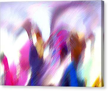Color Dance Canvas Print by Anil Nene