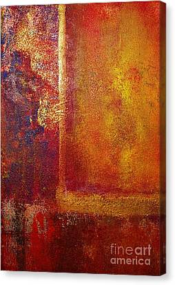 Color Fields Red And Gold Canvas Print by Philip Bowman