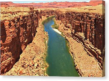 Colorado River Canyon Canvas Print by Adam Jewell
