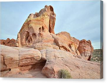 Canvas Print featuring the photograph Colored Castle In Valley Of Fire by Ray Mathis
