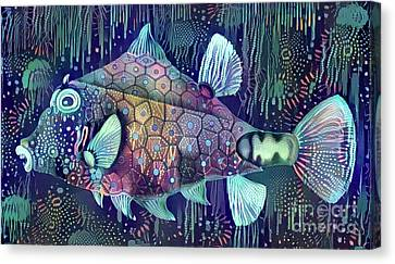 Beauty Canvas Print - Colorful Fish by Amy Cicconi