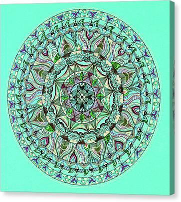Moroccan Canvas Print - Colorful Mandala Design by Dan Comaniciu