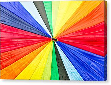 Colorful Umbrella Canvas Print by Tom Gowanlock