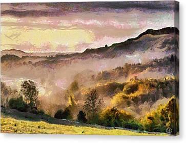 Canvas Print featuring the digital art Colors Of Autumn by Gun Legler
