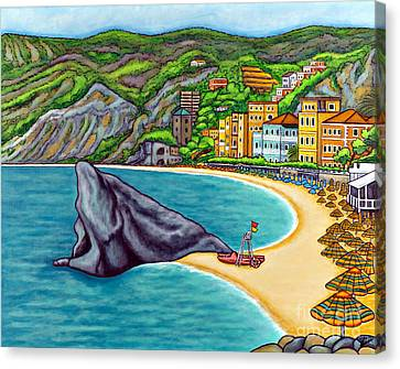 Colours Of Monterosso Canvas Print by Lisa  Lorenz