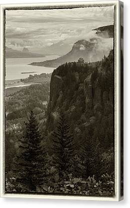 Canvas Print featuring the photograph Columbia River Gorge by Angie Vogel