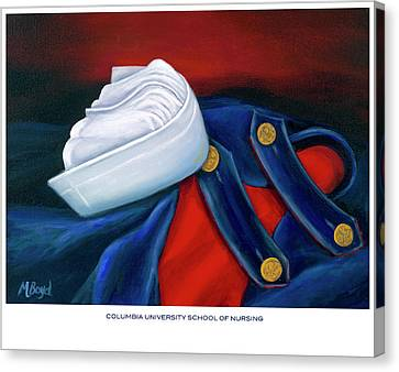 Columbia University School Of Nursing Canvas Print by Marlyn Boyd