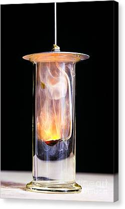 Combustion Of Sodium Canvas Print by Martyn F. Chillmaid