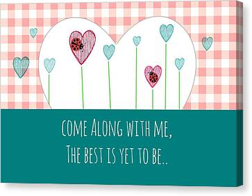 Come Along With Me Canvas Print by Chastity Hoff
