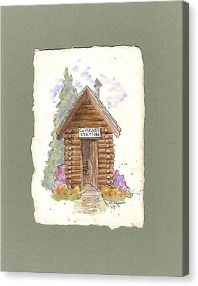 Comfort Station Canvas Print by Gail Maguire