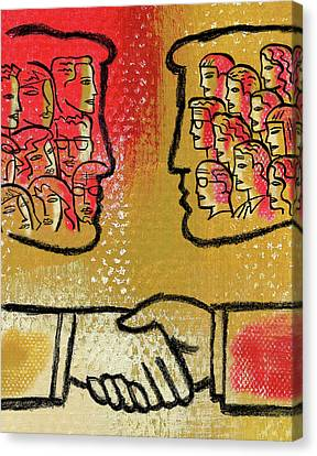 Community And Cooperation Canvas Print by Leon Zernitsky
