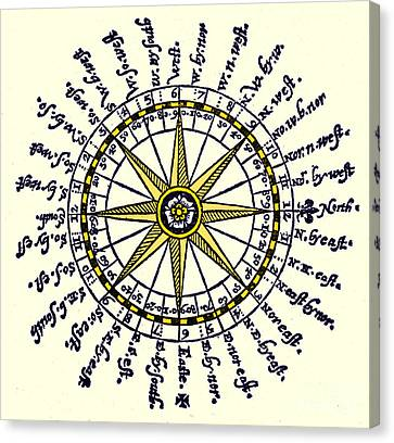 Compass Rose, 1607 Canvas Print by Science Source