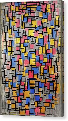 Composition Canvas Print by Piet Mondrian