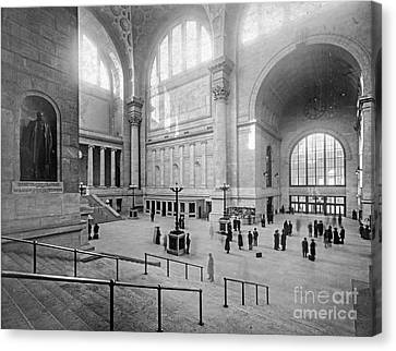 Concourse Pennsylvania Station New York Canvas Print by Russ Brown