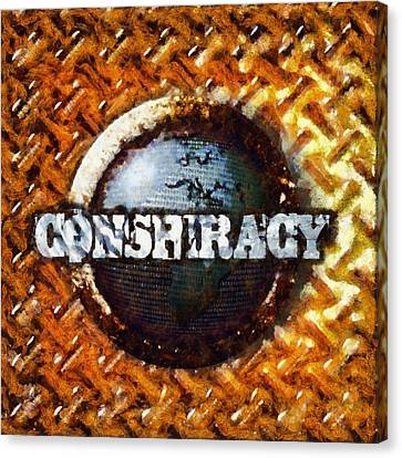 Conspiracy Canvas Print by Esoterica Art Agency