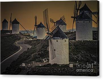 Canvas Print featuring the photograph Consuegra Windmills 2 by Heiko Koehrer-Wagner