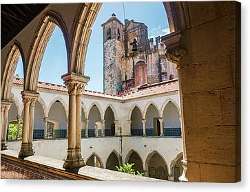 Medieval Temple Canvas Print - Convent Of Christ In Tomar by Carlos Caetano