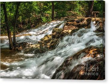 Cooling Waters At The Chickasaw National Recreation Area Canvas Print by Tamyra Ayles