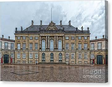 Canvas Print featuring the photograph Copenhagen Amalienborg Palace by Antony McAulay