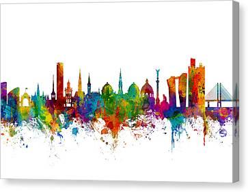 Denmark Canvas Print - Copenhagen Denmark Skyline by Michael Tompsett