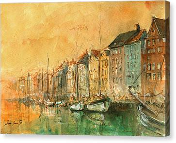 Copenhagen Canvas Print by Juan Bosco