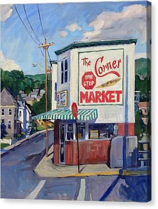 Corner Market Canvas Print by Thor Wickstrom