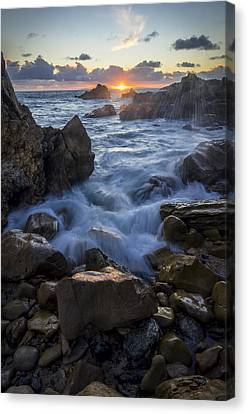 Canvas Print featuring the photograph Corona Del Mar by Sean Foster