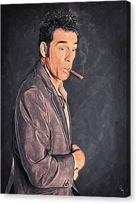 Cosmo Kramer Canvas Print by Taylan Apukovska