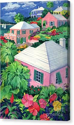 Cottage Terrace Canvas Print by Paul Brent