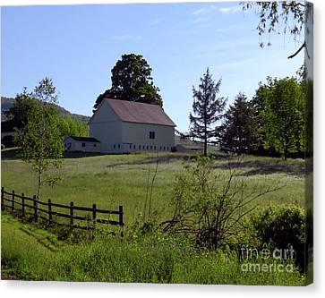Country Barn Canvas Print by Donna Cavanaugh