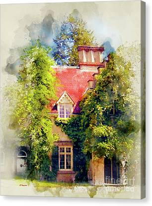 Country Cottage Canvas Print by George Voyajolu