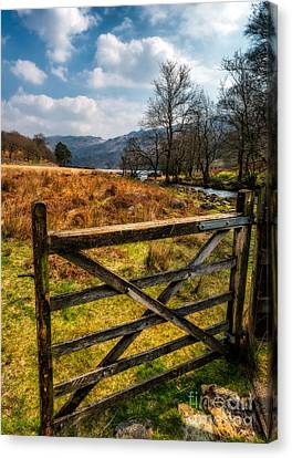 Countryside Gate Canvas Print