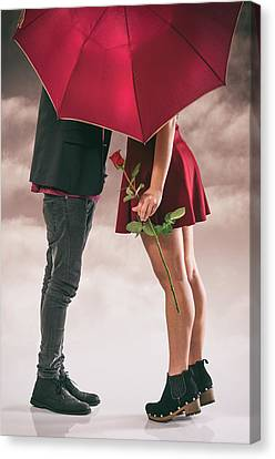 Canvas Print featuring the photograph Couple Of Sweethearts by Carlos Caetano