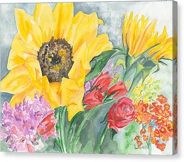 Courtney's Sunflower Canvas Print by Kimberly Lavelle