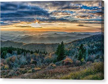 Canvas Print - Cowee Sunset by Donnie Smith