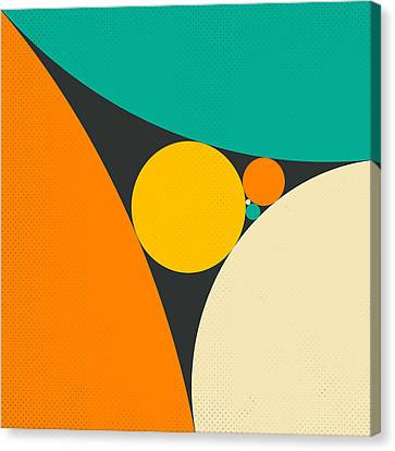 Coxeter's Loxodromic Sequence Of Tangent Circles Canvas Print by Jazzberry Blue