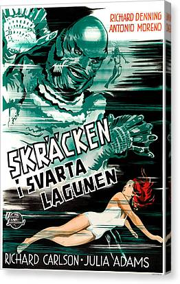 Creature From The Black Lagoon, Aka Canvas Print by Everett