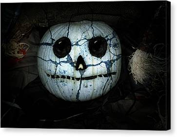 Creepy Halloween Pumpkin Canvas Print by Gravityx9  Designs
